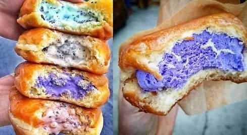 Donuts rellenos de helado: el postre triunfa este verano