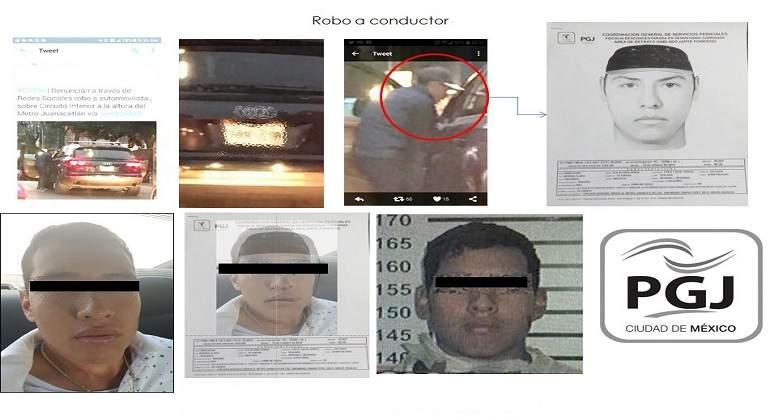 Capturan a dos ladrones de camioneta en Circuito Interior