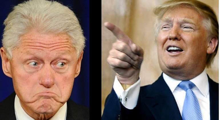 Trump arremete contra Bill Clinton