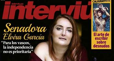 Elvira García, exsenadora de Podemos, desnuda en la portada de Interviú