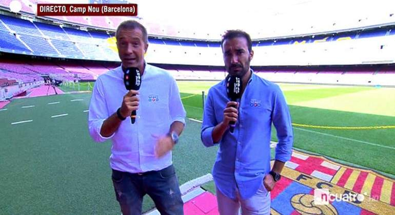 Así fue el reencuentro de Castaño y Carreño: rivales en radio y pareja en TV