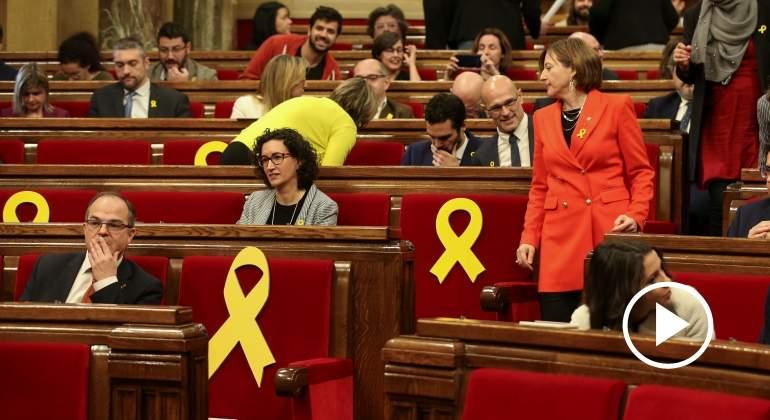 La Mesa del Parlament acepta el voto delegado de los encarcelados