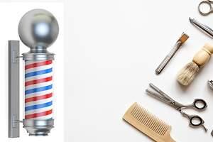 El origen de los postes de barbería