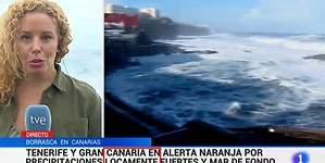 Llueve locamente, según el Telediario de TVE