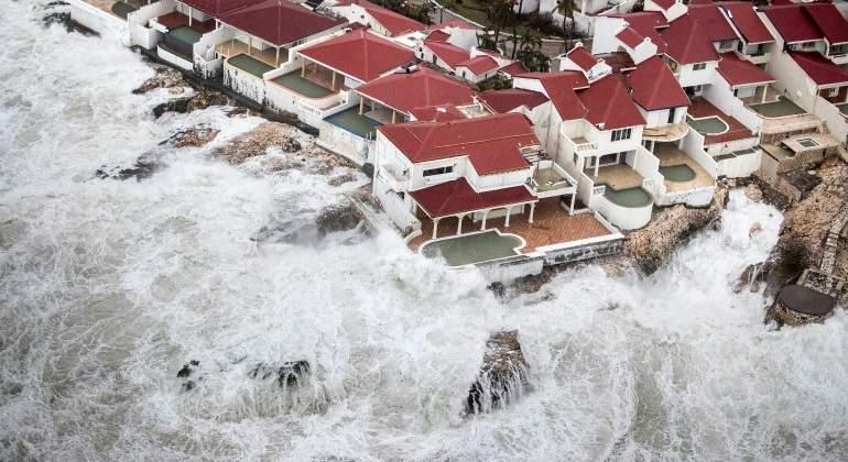 Devastador el paso del huracán Irma por Guadalupe y San Martin (Fotos)