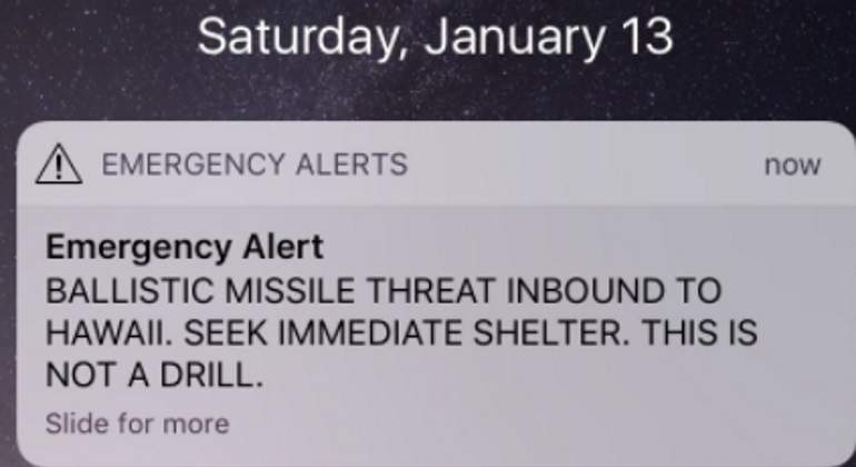 Falsa alerta de ataque con misiles provocó pánico en población de Hawái