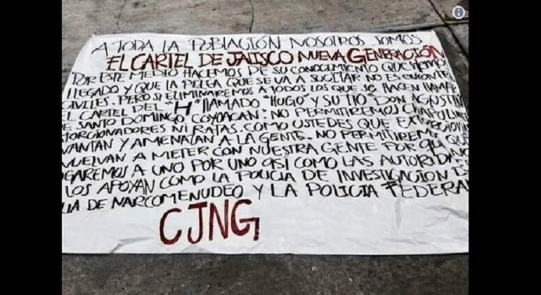 Anuncia CJNG llegada a la CDMX