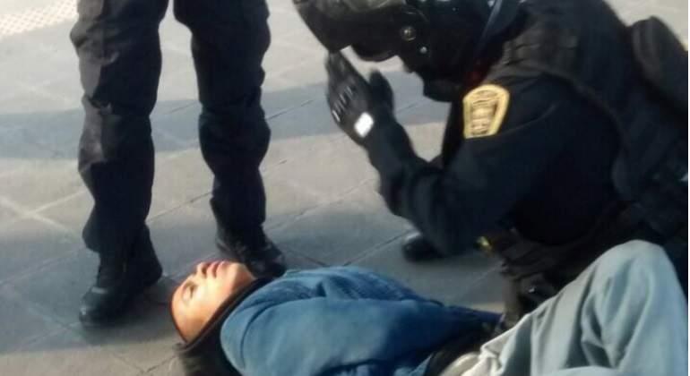 Así luce Marco Antonio tras encuentro con policías