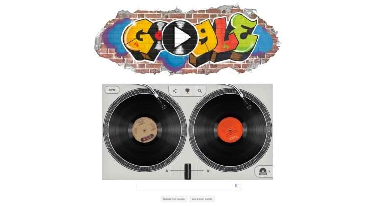 Google celebra los 44 años del hip hop con interactivo doodle