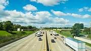 La autopista I-294 Tri-State vista desde el Lincoln Oasis Travel Plaza
