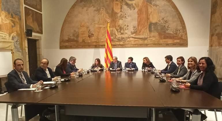 La tercera mesa de partidos catalanes acaba con discrepancias