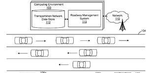 Amazon patenta una carretera capaz de organizar a los vehículos autónomos