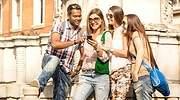Estudiantes internacionales en una visita guiada