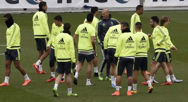 Así fue la charla de Zidane a sus jugadores