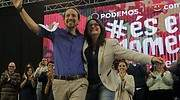 Pablo Iglesias y Mnica Oltra cuando Podemos y Comproms concurrieron juntos a las elecciones en 2015 REUTERS