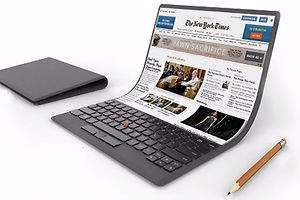 Un portátil de pantalla flexible