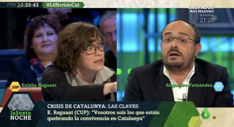 La CUP revoluciona La Sexta Noche: así fue la intervención de Eulàlia Reguant