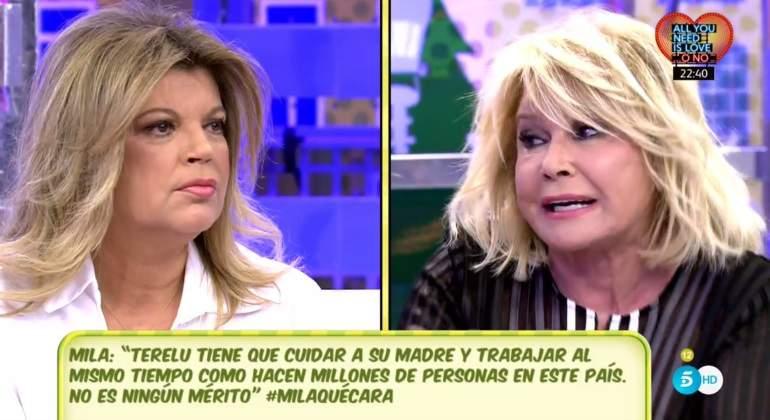 Mila recula con Bigote y no llama a María Teresa