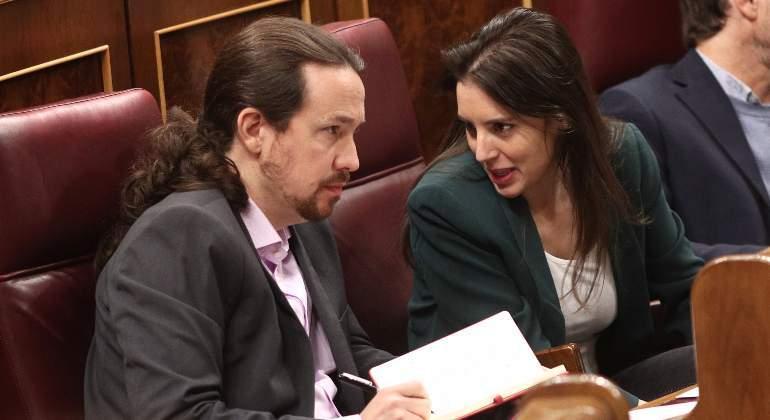 Los cinco de Podemos en el Gobierno: Iglesias, Montero, Díaz, Castells y Garzón