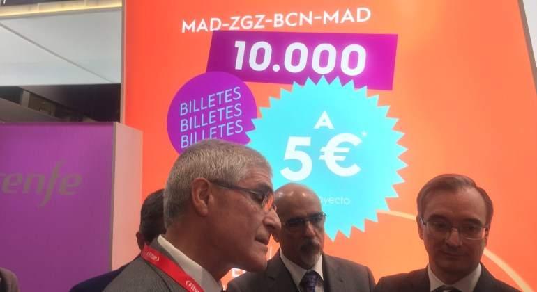 ¡Por 5 euros! Renfe saca a la venta el lunes 10.000 billetes del AVE low cost