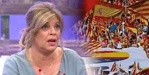 Terelu se moja por la unidad de España y provoca un tsunami