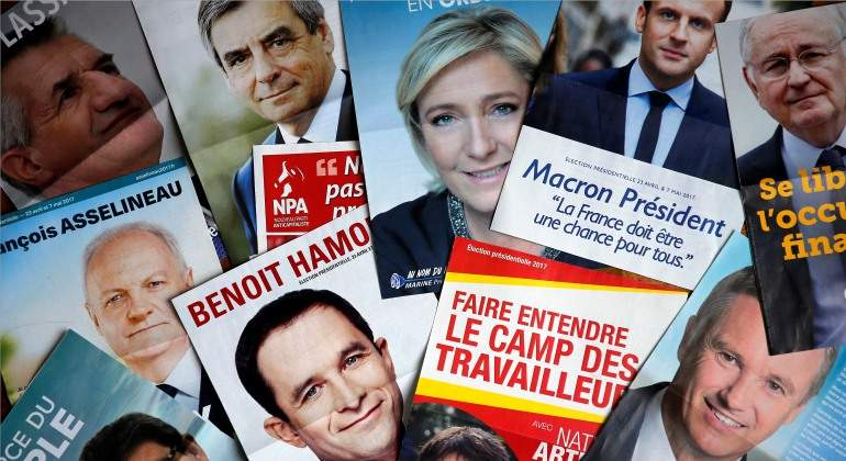 Macron y Le Pen a la cabeza según las primeras estimaciones
