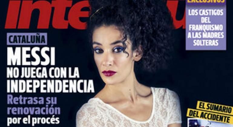 La bailaora Lili Leukmoli, desnuda en la portada de Interviú