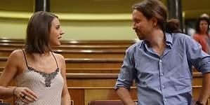 Pablo Iglesias e Irene Montero: su beso furtivo