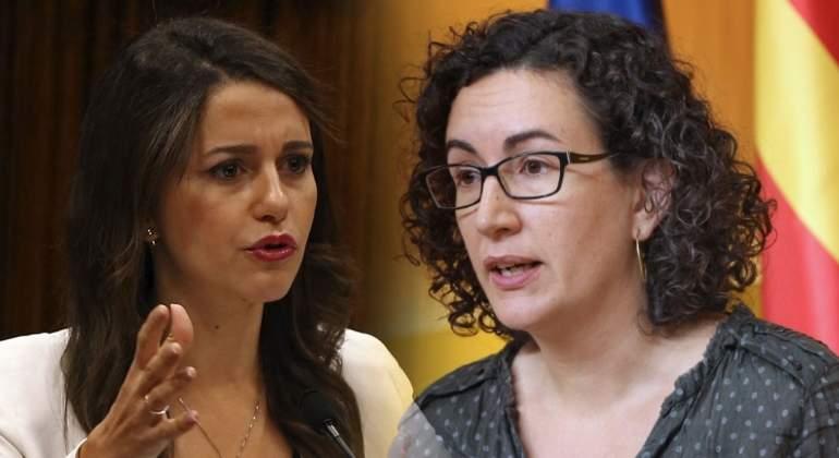 Así fue el tenso debate Arrimadas-Rovira: fascismo vs golpismo y otros golpes