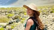 Una turista en Lanzarote Canarias