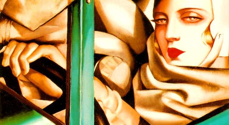 """Resultado de imagen de Tamara lempicka en un bugatti verde hd"""""""