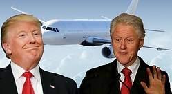 Clinton y Trump: sus viajes en el Lolita Express