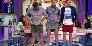 Los chicos de Zapeando presentan en falda y tacón