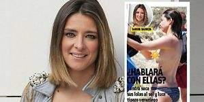 Sandra Barneda, con un pecho al aire en Formentera