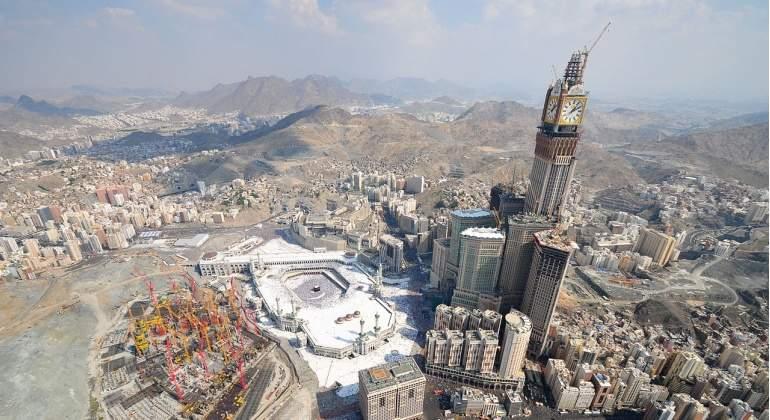 El reloj más grande del mundo, en La Meca