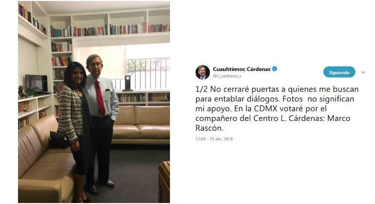 Cárdenas votará por Rascón