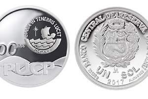 BCR presenta monedas de plata por los 100 años de la PUCP