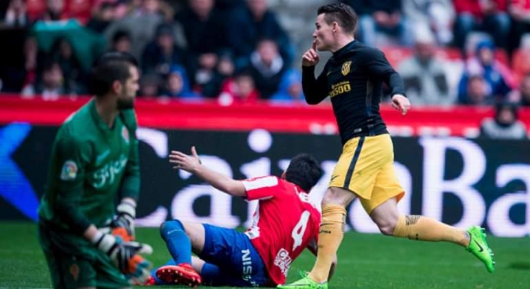 Hat-trick de Gameiro aseguró goleada del Atlético de Madrid