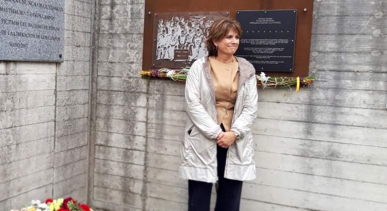 46b3fd86c Dolores Delgado planta a la Generalitat en un acto en Mauthausen al hablar  de …