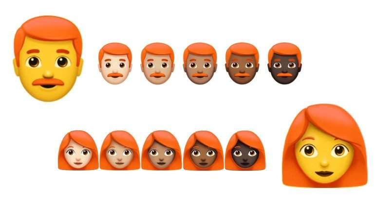 La batalla por el emoji pelirrojo