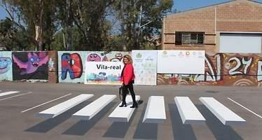 Llegan a España los pasos de peatones en 3D: Vila-real lucha contra los excesos de velocidad a través del efecto visual