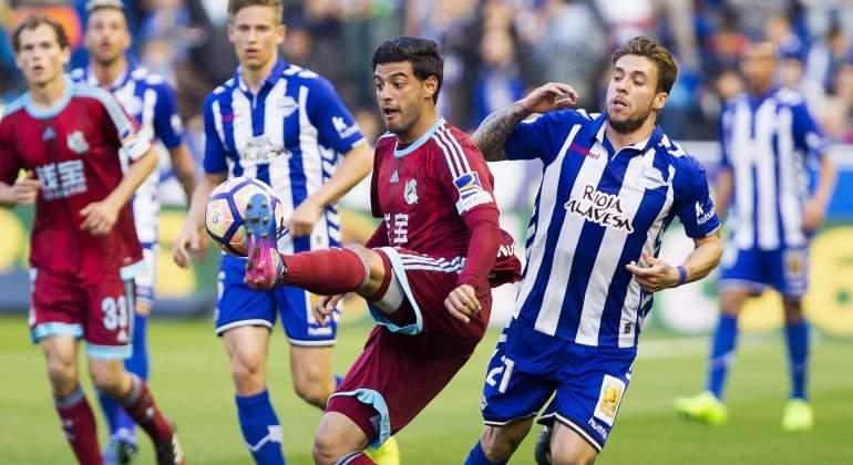 La Real Sociedad de Carlos Vela cae ante el Alavés