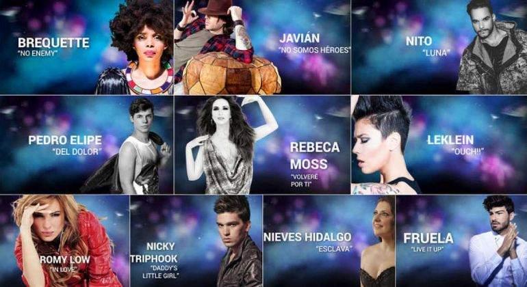 Javián y cuatro concursantes de La Voz, entre los 10 candidatos finales del Eurocasting de TVE