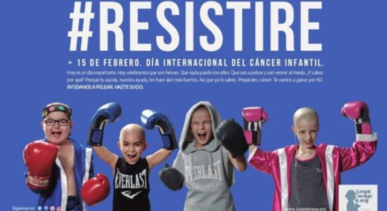 Resistiré, un himno de lucha para los niños que padecen cáncer