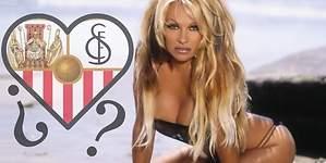 Pamela Anderson, pillada con un jugador del Sevilla