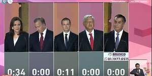 Todos unidos contra AMLO: lo más relevante del primer debate electoral