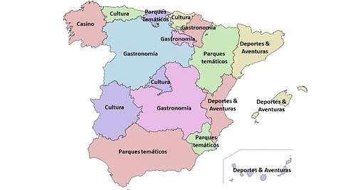 Mapa De España Comunidades Mudo.Que Buscan Los Turistas En Cada Rincon De Espana El Mapa De