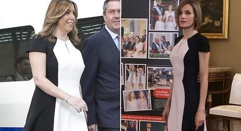 Susana Díaz le copia un vestido a doña Letizia