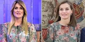 Corredera vuelve a ponerse el vestido que copió Letizia