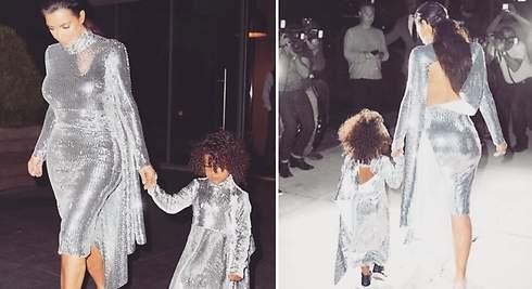 Kim Kardashian y su hija se apuntan al color plata